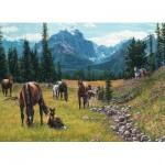 Puzzle  Cobble-Hill-51816 Kim Penner - Horse Meadow