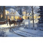 Puzzle  Cobble-Hill-51834 Mark Keathley: Horse-Drawn Buggy