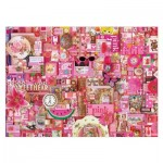 Puzzle  Cobble-Hill-51860 Shelley Davies: Pink