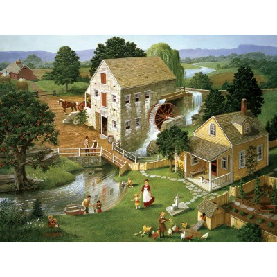 Puzzle Cobble-Hill-52066 XXL Teile - Charlotte Joan Sternberg: Four Star Mill