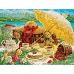 Puzzle  Cobble-Hill-52089 XXL Teile - Janet Kruskamp - Teddy Bear Picnic