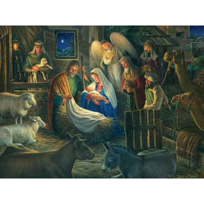 Puzzle Cobble-Hill-52112 XXL Teile - Away in a Manger
