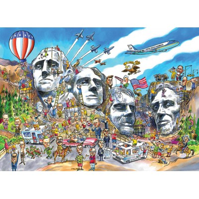 Puzzle Cobble-Hill-53503 DoodleTown: Mount Rushmore