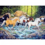 Puzzle  Cobble-Hill-54585 XXL Teile - Michelle Gladish - The Horse Crossing