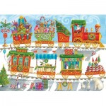 Puzzle  Cobble-Hill-54608 XXL Teile - Christmas Train