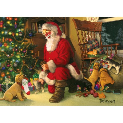 Puzzle Cobble-Hill-54611 XXL Teile - Santa's Lucky Stocking