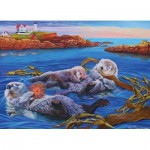 Puzzle  Cobble-Hill-54619 XXL Teile - Sea Otter Family