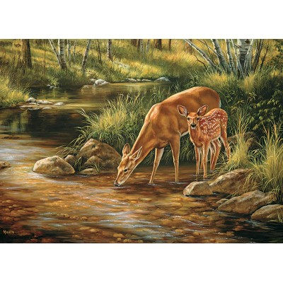 Puzzle Cobble-Hill-54626 XXL Teile - Deer Family