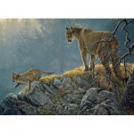 Puzzle  Cobble-Hill-54635 XXL Teile - Excursion: Cougar and Kits