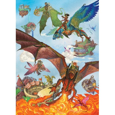 Puzzle Cobble-Hill-54636 XXL Teile - Dragon Flight