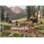 Puzzle  Cobble-Hill-57184 XXL Teile - Mountain Thunder