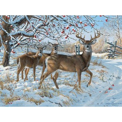Puzzle Cobble-Hill-57196 Persis Clayton Weirs - Winter Deer