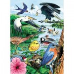 Cobble-Hill-58809 Rahmenpuzzle - North American Birds