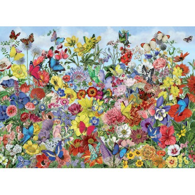Puzzle Cobble-Hill-80032 Butterfly Garden