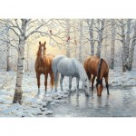 Puzzle  Cobble-Hill-80055 Winter Trio
