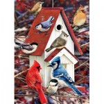 Puzzle  Cobble-Hill-80122 Greg Giordano -  Winter Birdhouse