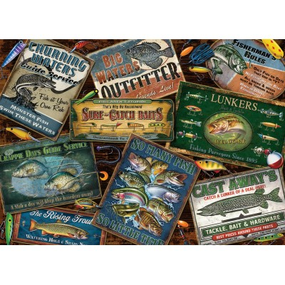 Puzzle Cobble-Hill-80130 Fish Signs