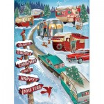 Puzzle  Cobble-Hill-80320 Christmas Campers