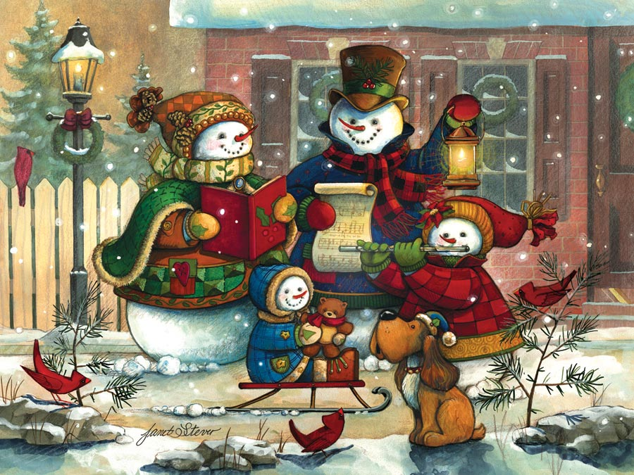 Janet Stever: Weihnachtslied - 400 Teile - COBBLE HILL / OUTSET ...