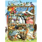 Puzzle   XXL Teile - Birds of the World