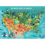 Puzzle   XXL Teile - The United States of America