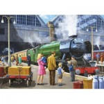 Puzzle   Flying Scotsman at Kings Cross