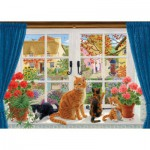 Puzzle  Jumbo-11064 Sarah Adams: Through the Cottage Window