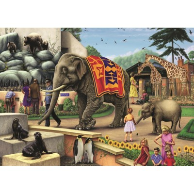 Puzzle Jumbo-11105 Colin Howard - A Day at the Zoo