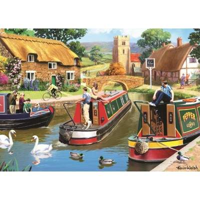 Puzzle Jumbo-11107 Kevin Walsh - A Busy Time on The Canal