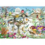 Puzzle  Jumbo-11183 Claire Comerford - Winter Garden Birds