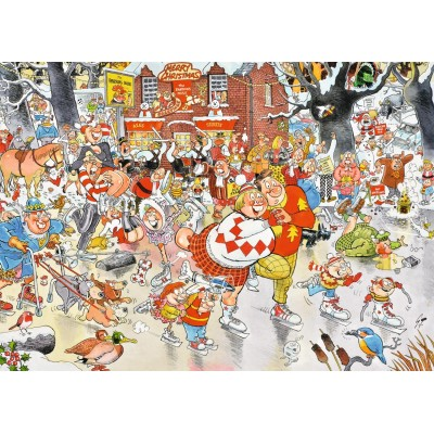 Puzzle Jumbo-11223 Christmas on Ice