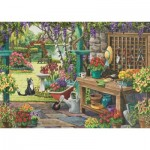 Puzzle   XXL Teile - Nancy Wernersbach - Garden in Bloom