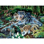 Puzzle   Jan Martin Mcguire - Forest Wolf Family