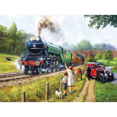 Puzzle Sunsout-13792 Kevin Walsh - Watching the Trains