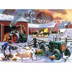 Puzzle  Sunsout-13820 Kevin Walsh - Wintertime Farm