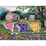 Puzzle  Sunsout-14610 Diane Phalen - Summer Breeze