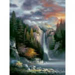 Puzzle  Sunsout-18091 James Lee - Misty Falls