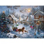 Puzzle  Sunsout-19236 Nicky Boehme - Merry Christmas