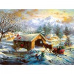 Puzzle  Sunsout-19327 XXL Teile - Over the Covered Bridge