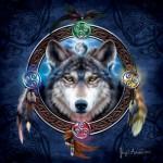 Puzzle  Sunsout-20106 Brigid Ashwood - Celtic Wolf Guide