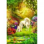 Puzzle  Sunsout-24415 Enchanted Garden Unicorns