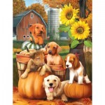 Puzzle  Sunsout-28767 XXL Teile - Autumn Puppies