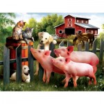 Puzzle  Sunsout-28870 XXL Teile - Making New Friends