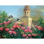 Puzzle  Sunsout-29090 XXL Teile - Wedding Bell Chickadees