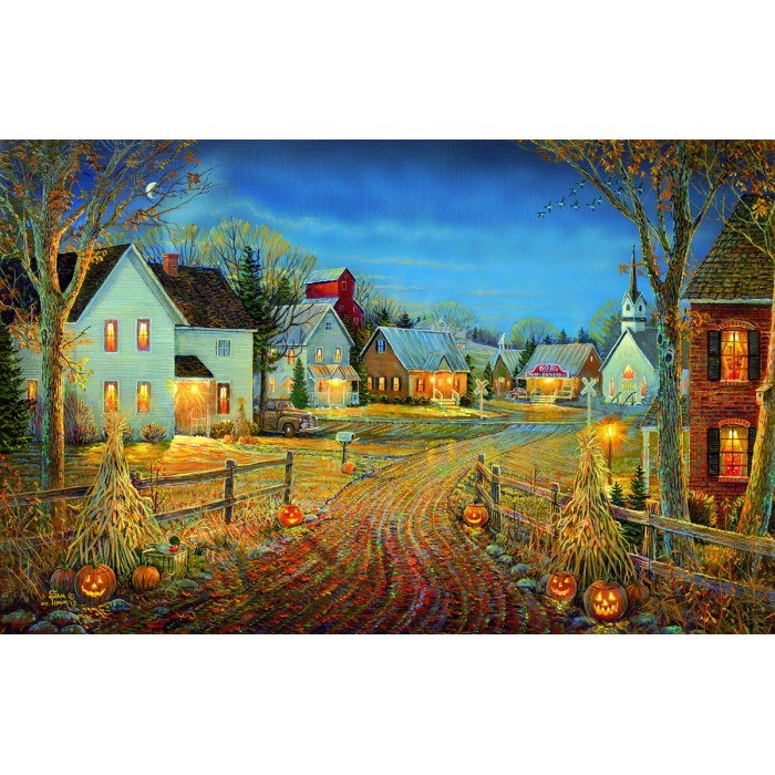 Sam Timm - A Country Town in Autumn