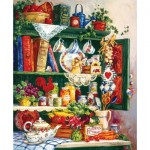Puzzle  Sunsout-31391 Barbara Mock - Grandma's Cupboard