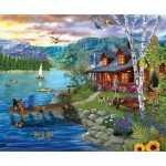 Puzzle  Sunsout-31559 XXL Teile - Peaceful Summer