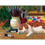 Puzzle  Sunsout-31613 Linda Elliot - Painter's Helper
