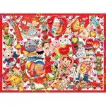 Puzzle  Sunsout-35147 XXL Teile - Valentine Card Collage