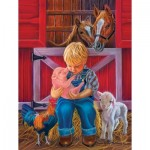 Puzzle  Sunsout-35816 XXL Teile - Little Farm Friends